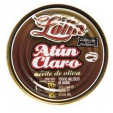 ATUN CLARO EN ACEITE DE OLIVA LOLIN 120 GRS